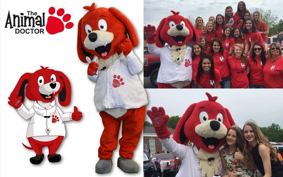 Custom Mascot Costume Animal Doctor Dog Mascot by Promo Bears