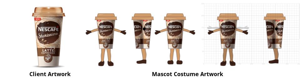 Custom Mascot Costume Concept Drawing