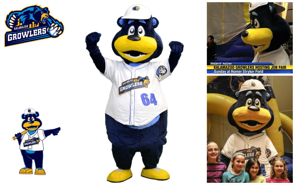 Custom-Mascot-Customes-Kalamazoo-Growlers-Promo-Bears-