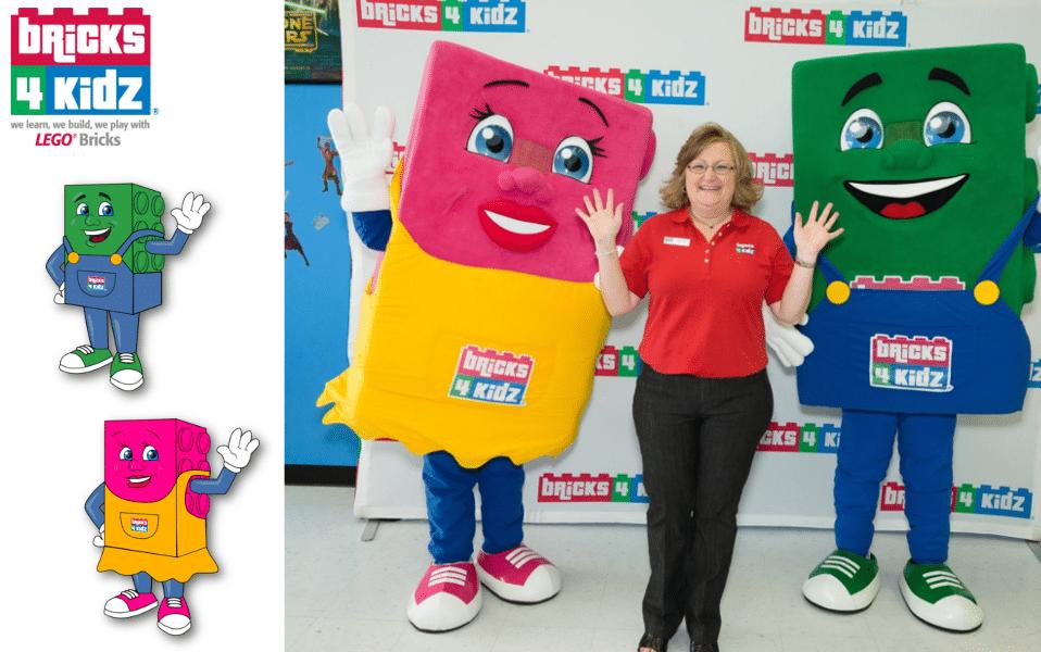 Custom Mascot Costume Bricks 4 Kidz -Promo Bears-