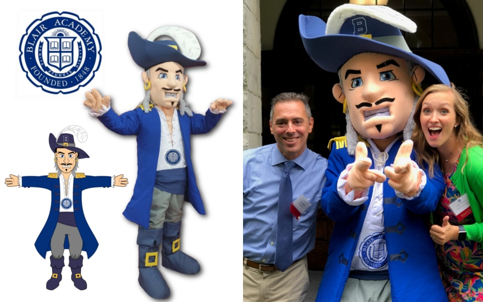 Custom Mascot Costume Bucanneer Blair Academy by Promo Bears