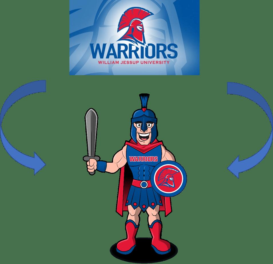Custom Warrior Mascot Logo into Costume